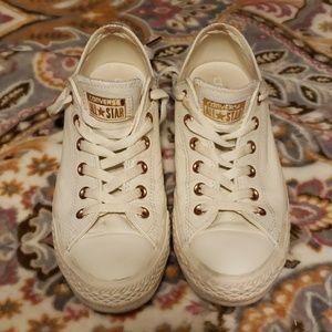 Unisex white leather Converse